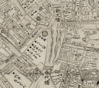 Nakazu on Edo map